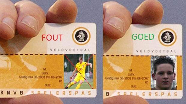 Zorg voor 1 november voor een correcte spelerspasfoto!!