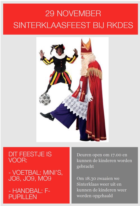 29 november: Sinterklaasfeest bij RKDES